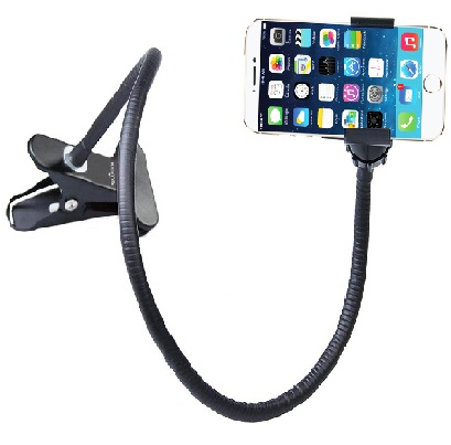 Cell Phone Holder, Display Stand, Desk Stand with flexible long arm - compatible with All Phones