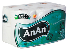 ANAN BATHROOM TISSUE 2 PLY PACK 12 ROLLS