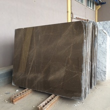 Grey Marble Light Olive Maron Slab