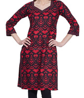 Indian-Designer very famous and fashionable stylist embroidered mix color Women Cotton Indian Kurti Tunic Top Long Ethnic Blouse