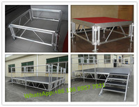 aluminum frame armored glass stage, used mobile stage, concert equipment stage