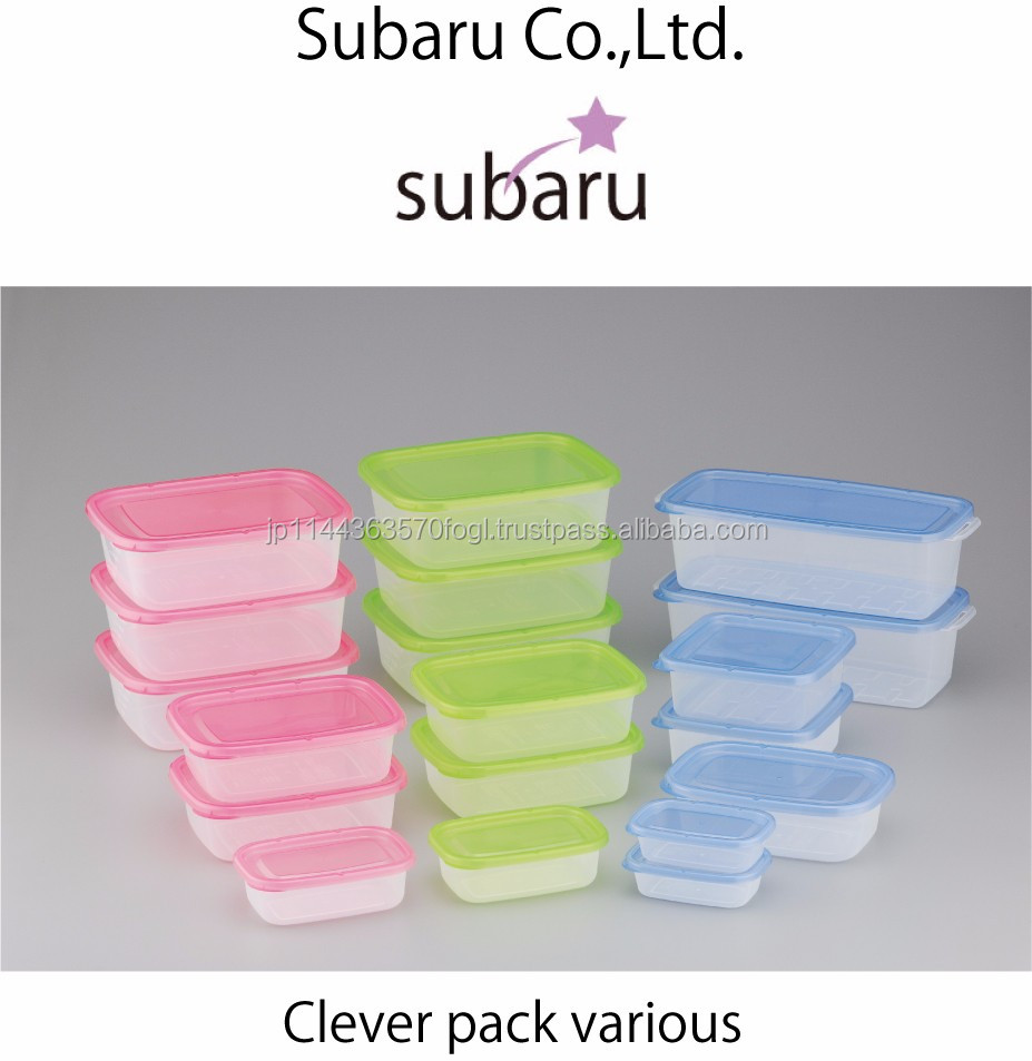 Easy-to-use convenient plastic food container box plastik made in Japan