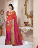Latest Orange Kanchipuram Sarees At Wholesale Rates