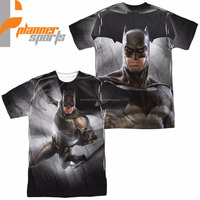 Batman Vs Superman Movie Batman Light Licensed All Over Sublimation Adult Shirt