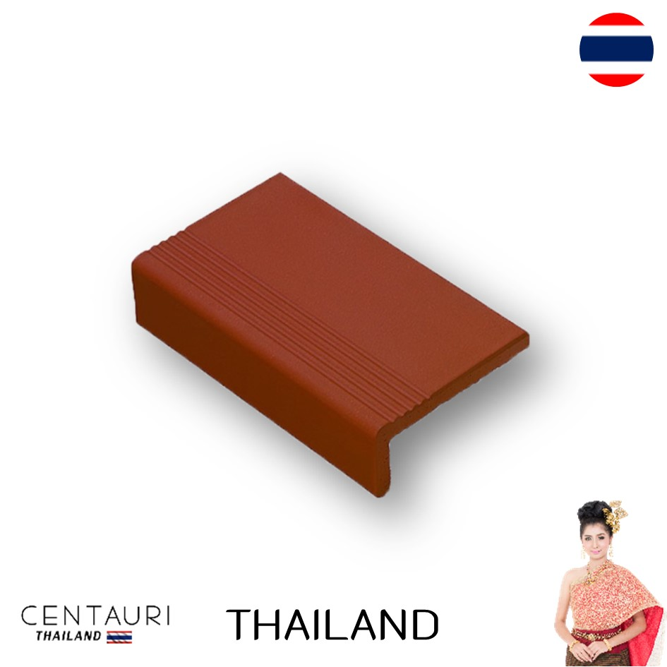 full body and matt stair nosing new tan brick color exterior brick and Terracotta tiles from Thailand and tile