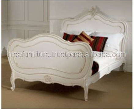 White French Style Ornate Queen Size Bed