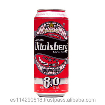 Vitalsberg Strong Beer canned 8% vol.alc. 24x50cl