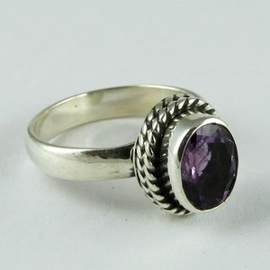 Grand Thai Love !! Purple Amethyst 925 Sterling Silver Ring, Factory Direct Sale 925 Sterling Silver Jewelry, Rings From India
