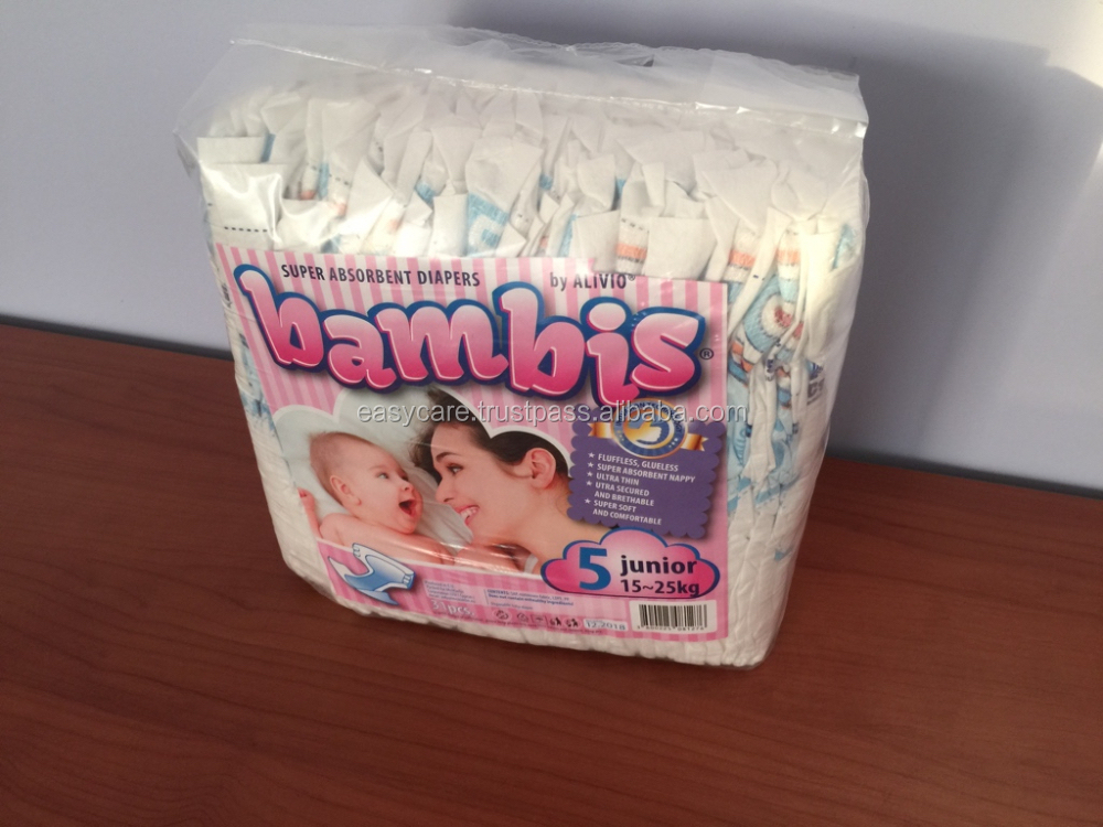 Baby Diapers /Nappies Bambis (made in EU - EUR1)