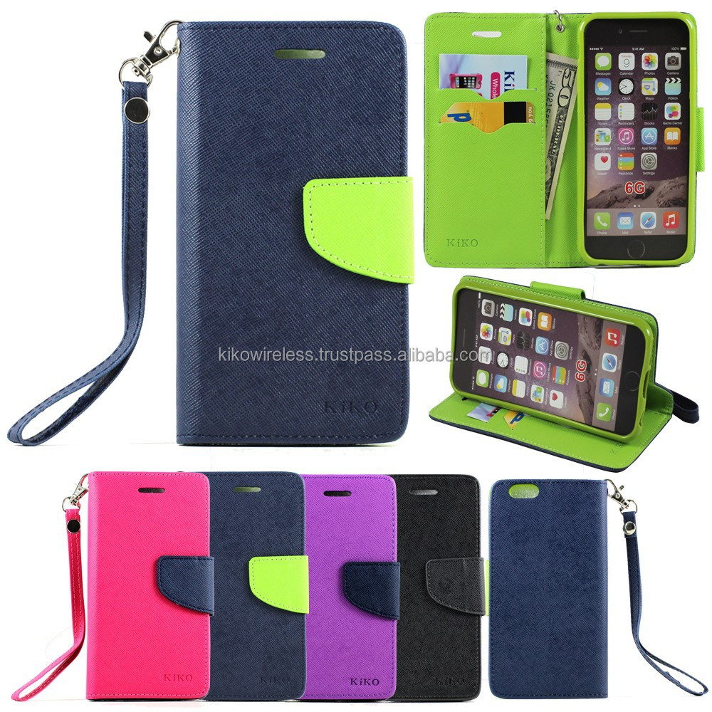 Magnetic Flip Leather Wallet Stand ID Card Case Cover Strap For iPhone 6