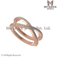 Diamond Rose Gold Ring, Party Wear Fashion Ring, New Latest Design Gold Diamond Ring