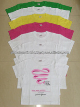 logo printed promotional t shirts, good quality cotton round nec t shirts