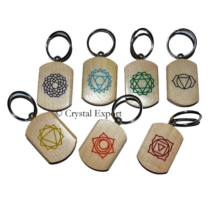 Color Full Engraved Chakra Symbol Set On Wood : Engraved Chakra - chakra wholesale sets
