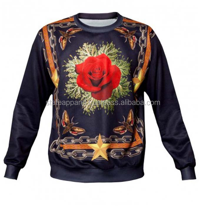 100% polyester sublimation sweatshirt,custom polyester sublimated sweatshirt,pure sublimated sweat shirt