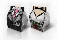 New York New York Tuxedo and Dress Party Favor Candy Box (pair/ with Ribbon)