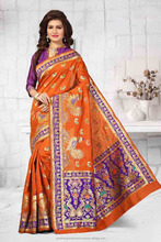 Gorgeous Mirror Work And Gota Lace Work Silk Fabric Wholesale Saree Catalog Seller in Dubai