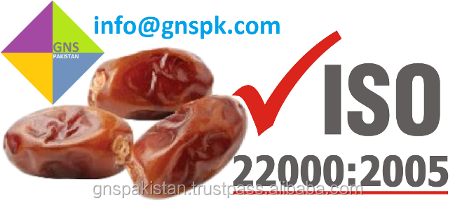 ISO22000 HACCP CERTIFIED Aseel and BJ Date - GMO FREE Pakistani Dates