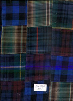 Madras Check Patchwork Fabrics For Table Cover