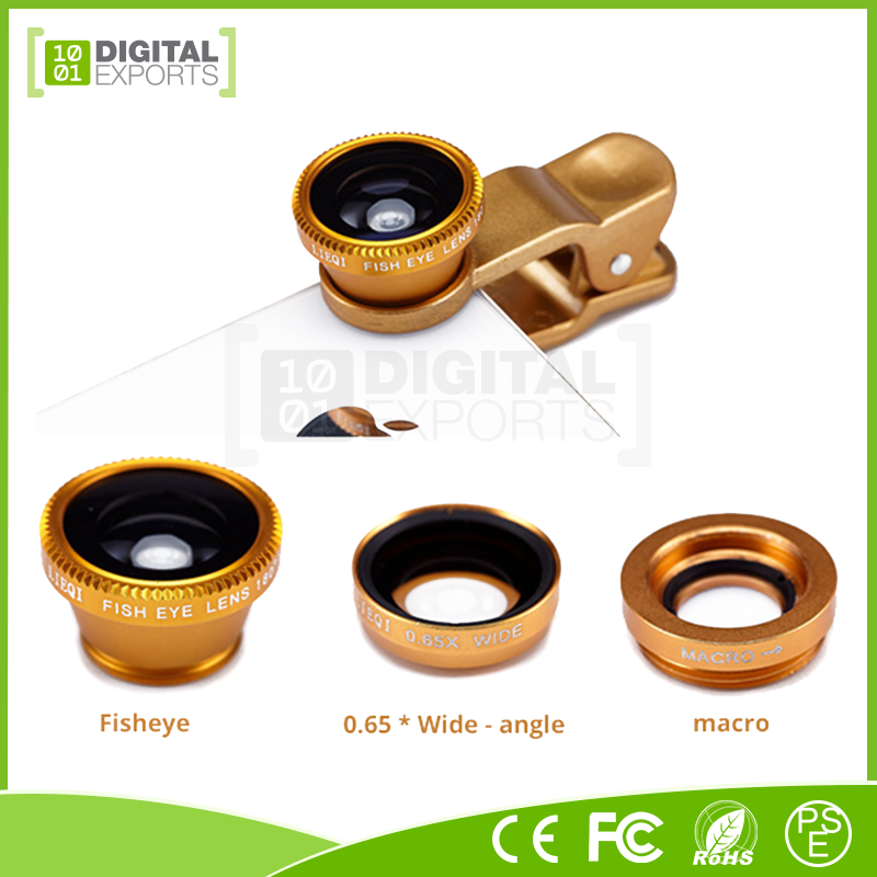 Customized high definition clip macro fixed focus fisheye lens mobile camera lens