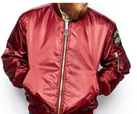 wholesale men bomber jackets winter blank coats and jackets for men/latest design satin bomber jacket