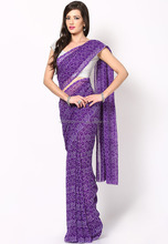 Printed Bandhej Georgette Saree