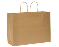 "Trade base export level Premier Packaging Duro Tote Medium Retail Bag, Kraft Paper, 16""x12"" 250 ct/Large space best packing use."