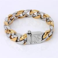 Paypal Accepted gold plated jewelry sets 316l stainless steel bangle cheap wholesale men jewelry with great price