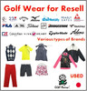 Cost-effective and Various types of mass production clothing and golf wear with good condition