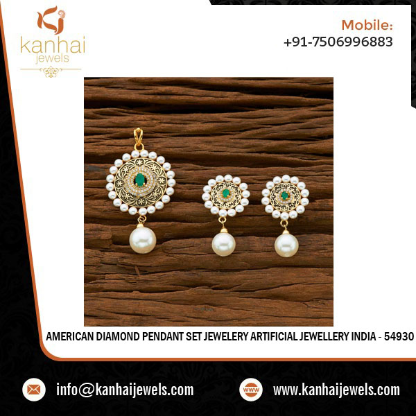 American Diamond Pendant Set Jewelery Artificial Jewellery India