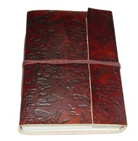 HANDMADE LEATHER JOURNAL EXCLUSIVE PATTERN EMBOSSED OFF WHITE HANDMADE PAPERS