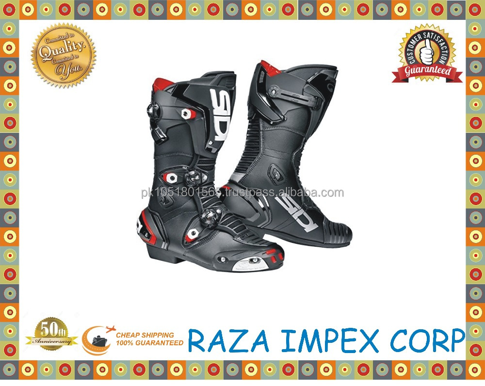 Best selling style top-grade fashion motorcycle boots / Pakistan factory 2016 fashion factory motorcycle riding boots