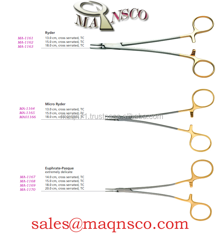 Euphrate Pasque needle holder T.C/Plastic surgery instruments