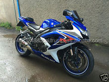 2008 08 Suzuki GSXR 750 K8 BLUE WHITE WITH YOSHIMURA R&G ASV LEVERS 600 1000