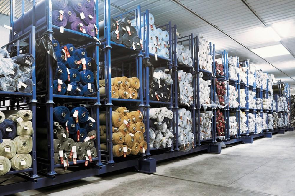 Metal Demountable Warehouse Storage Fabric Roll Stack Rack