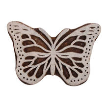 Butterfly Shape Vintage Wooden Canvas Printing Blocks Decorative Art Craft Wholesale On INDIANSHELF WB-2615