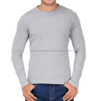 O neck t shirts-Plain cotton t-shirt Men's apparel brushed cotton blank plain O neck t shirts wholesale
