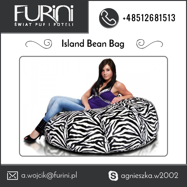 Nice Quality Best Selling Animal Print Island Bean Bags