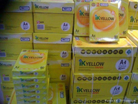 Offer ik yellow a4 copy paper 80gsm