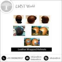 Excellent Grade Leather Wrapped Helmet by Well Known Manufacturer