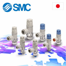 Functional SMC Pneumatic fitting with multiple functions made in Japan