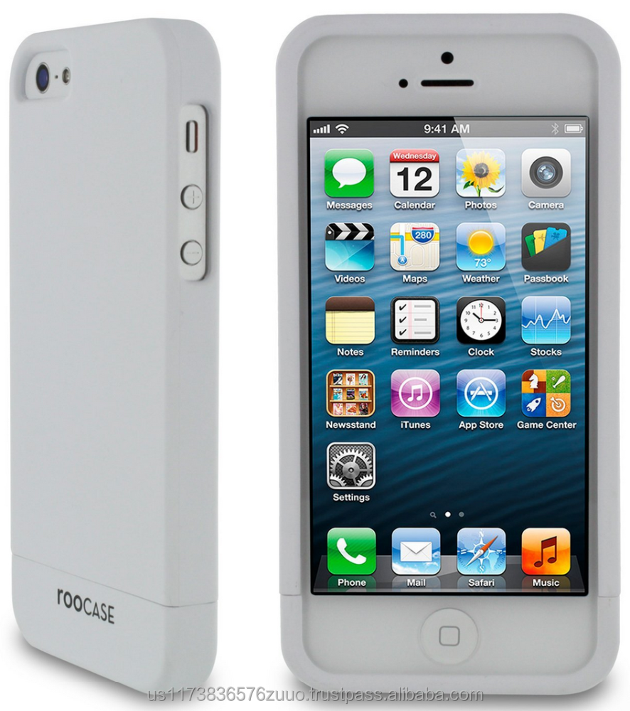 SL-R series Slider shell case with polyurethane matte coating for iPhone 5/5s (not compatible with 5c) roocase (White)