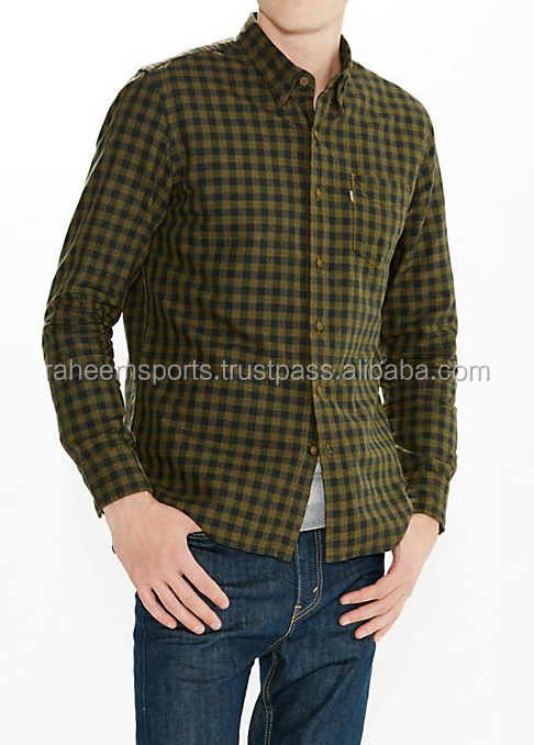 New Look Men's Vintage Check Long Sleeve Casual Shirt