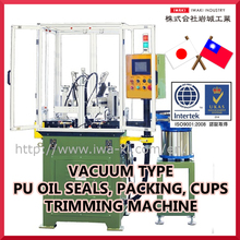 Vacuum Type PU Oil Seals, Packing, Cups Trimming Machine
