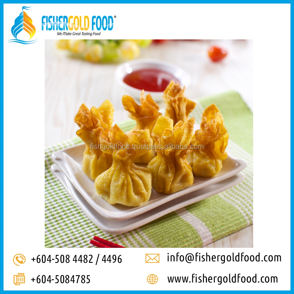 Frozen Fried Wonton Halal Seafood from Malaysia