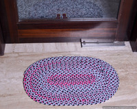 Indian Designer Handmade Rug Door Mat Floor Mat Embroidered Ethnic Art