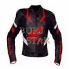 New Black and Red Motorcycle Leather Jacket , Full Safety Slim Fit Motorbike Leather Jacket , Cowhide Leather Jacket