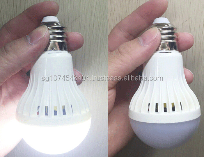 led bulb intelligent rechargable emergency bulb, 110/220v 6500-2700k