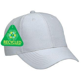 6-Panel Recycled Canvas Low Profile Baseball Cap - made from 65% recycled PET & 35% polyester and comes with your logo