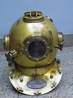 FULL SIZE 18 INCH DIVERS HELMET MADE OF STEEL & ALLUMINIUM