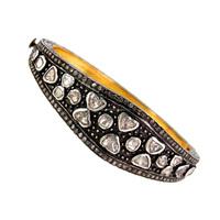 14k Gold Jewelry Wholesale Handmade Indian Rose Cut Diamond Bangles